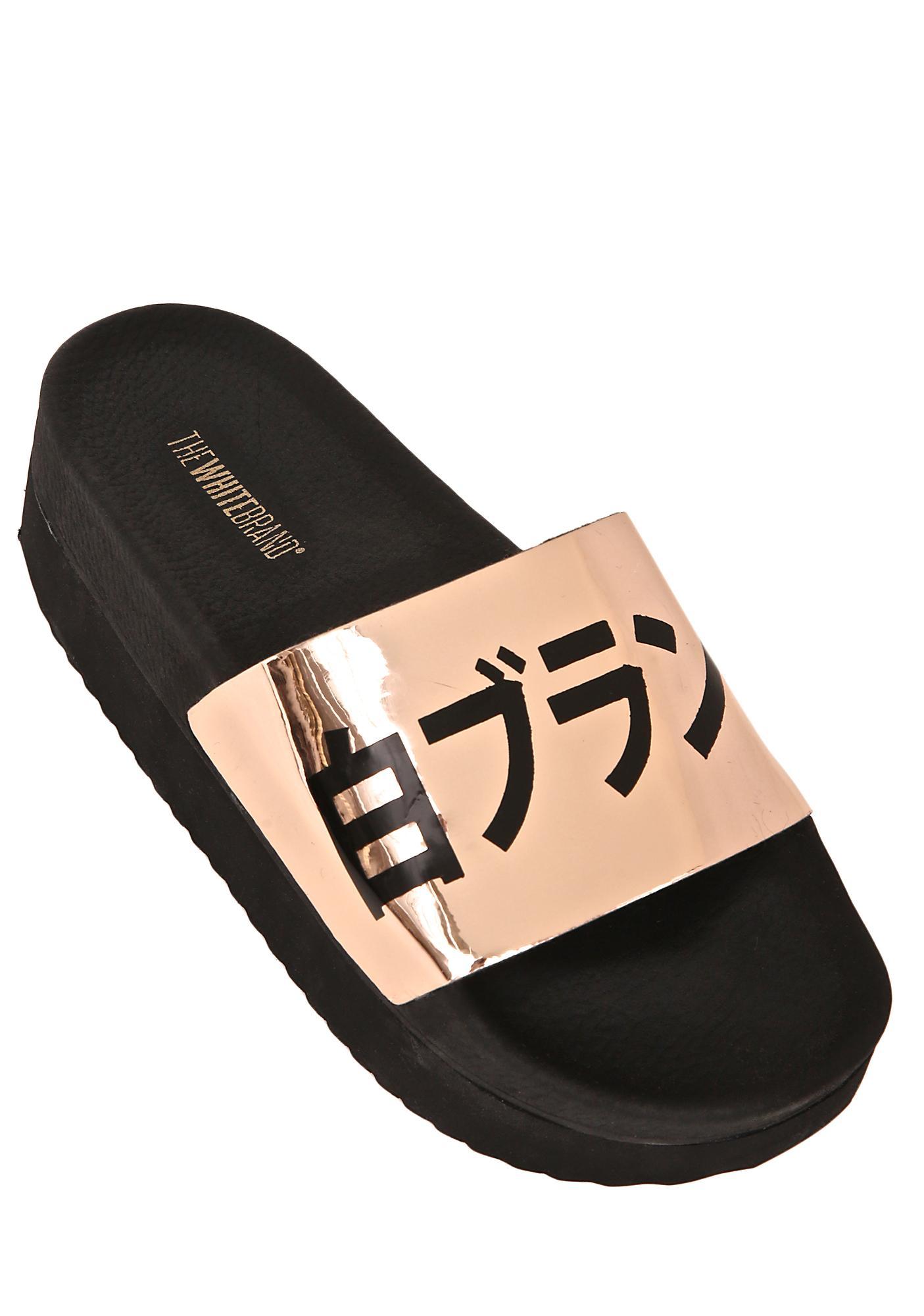 The White Brand High Japan Metallic Slides
