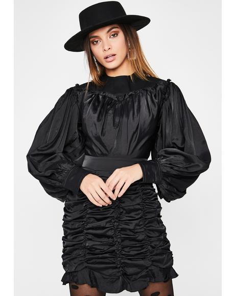 Secret Confession Ruffle Dress
