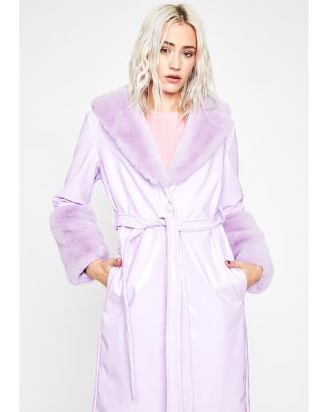 Lilac Trending Charm Vinyl Coat