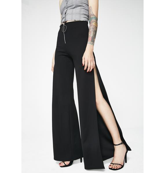 Dark Servin' All Day Slit Trousers