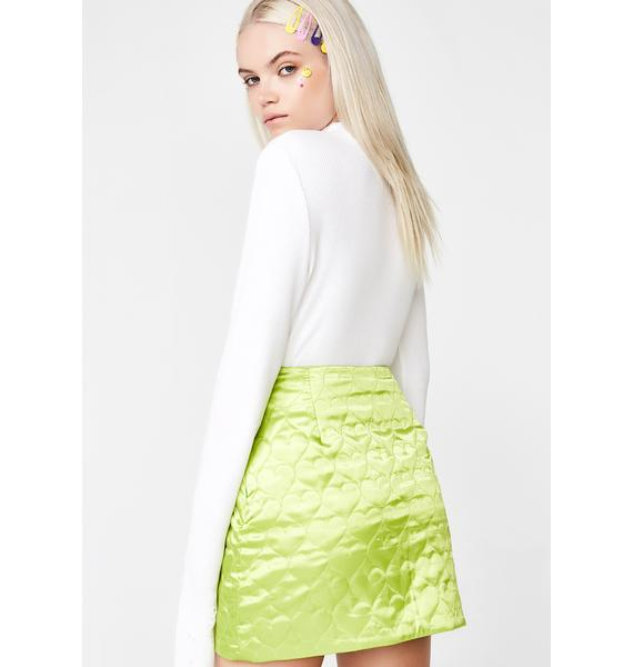 CheekLDN Kiwi Sweetheart Mini Skirt