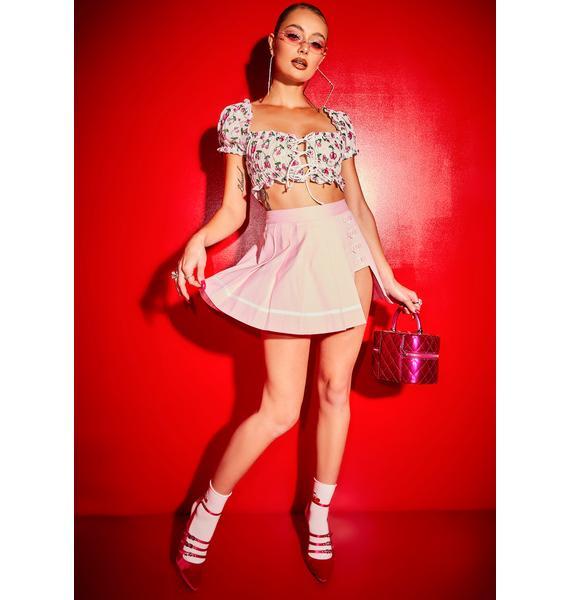 Poster Grl Angel Choose Ur Cherry Ruffle Crop Top