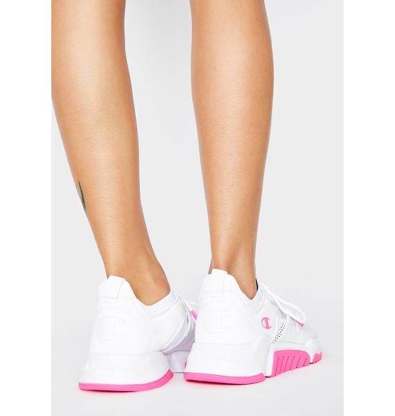 Champion Pink White D1 Sneakers