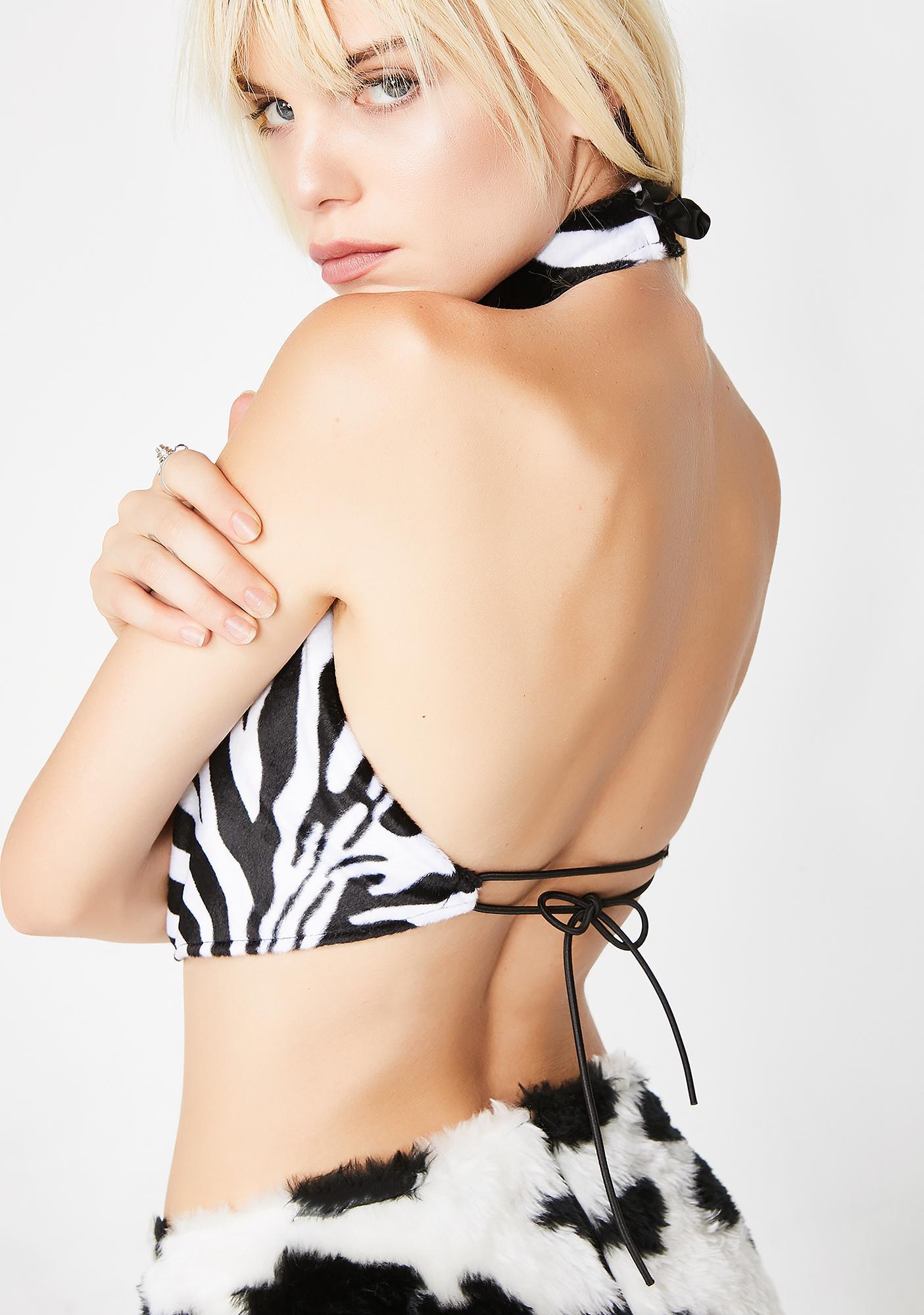 Tiar Zebra Choker Top