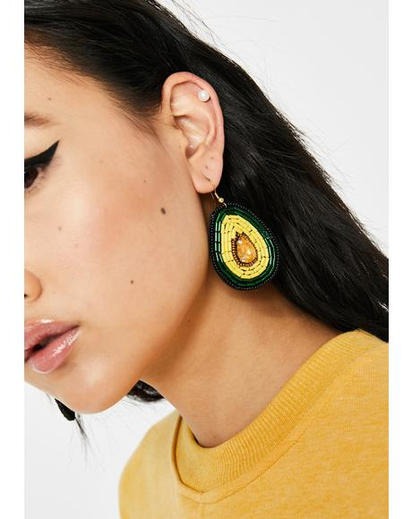I'm Extra Avocado Earrings