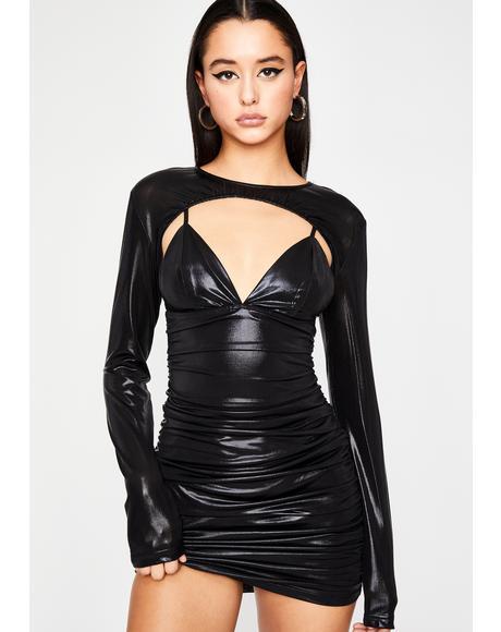 Dark Real Freak Nasty Metallic Dress