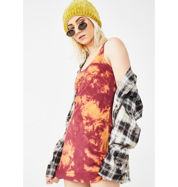 Why Not Us Sunset Tie Dyed Dress