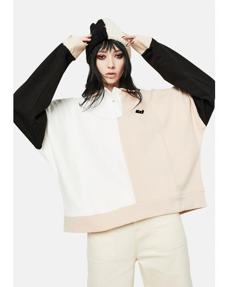 Colorblock Polo Sweatshirt