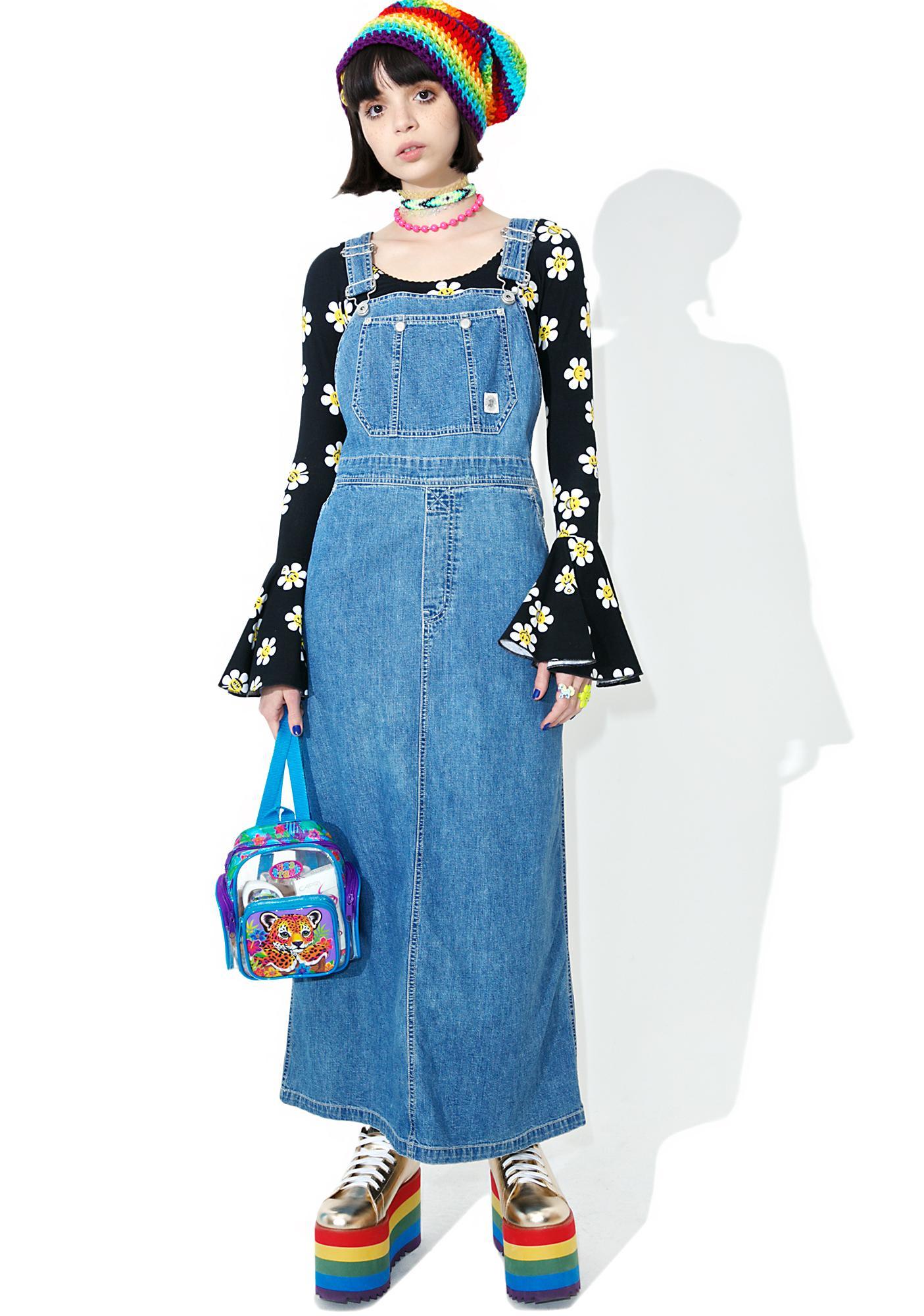 Vintage 90s DKNY Overall Maxi Dress