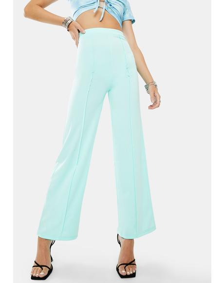 Mint Way Flare Pants