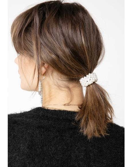 Ivory Daydream Pearl Scrunchie