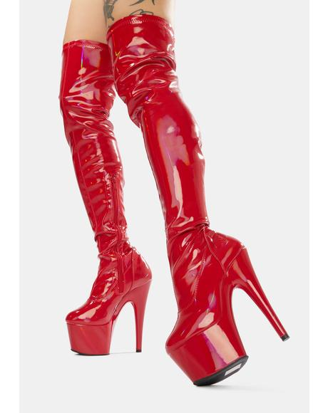 Lust Club Strut Thigh High Boots