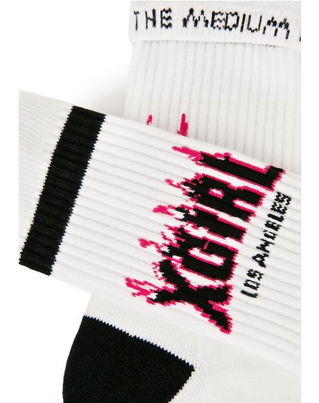 Flame Logo Socks