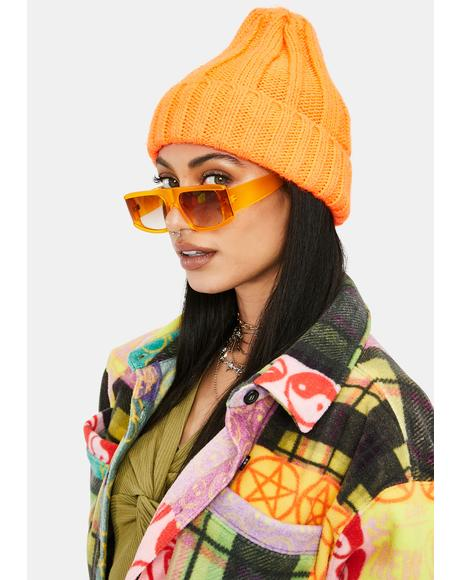 Juicy Paparazzi Posse Oversized Rectangle Sunglasses