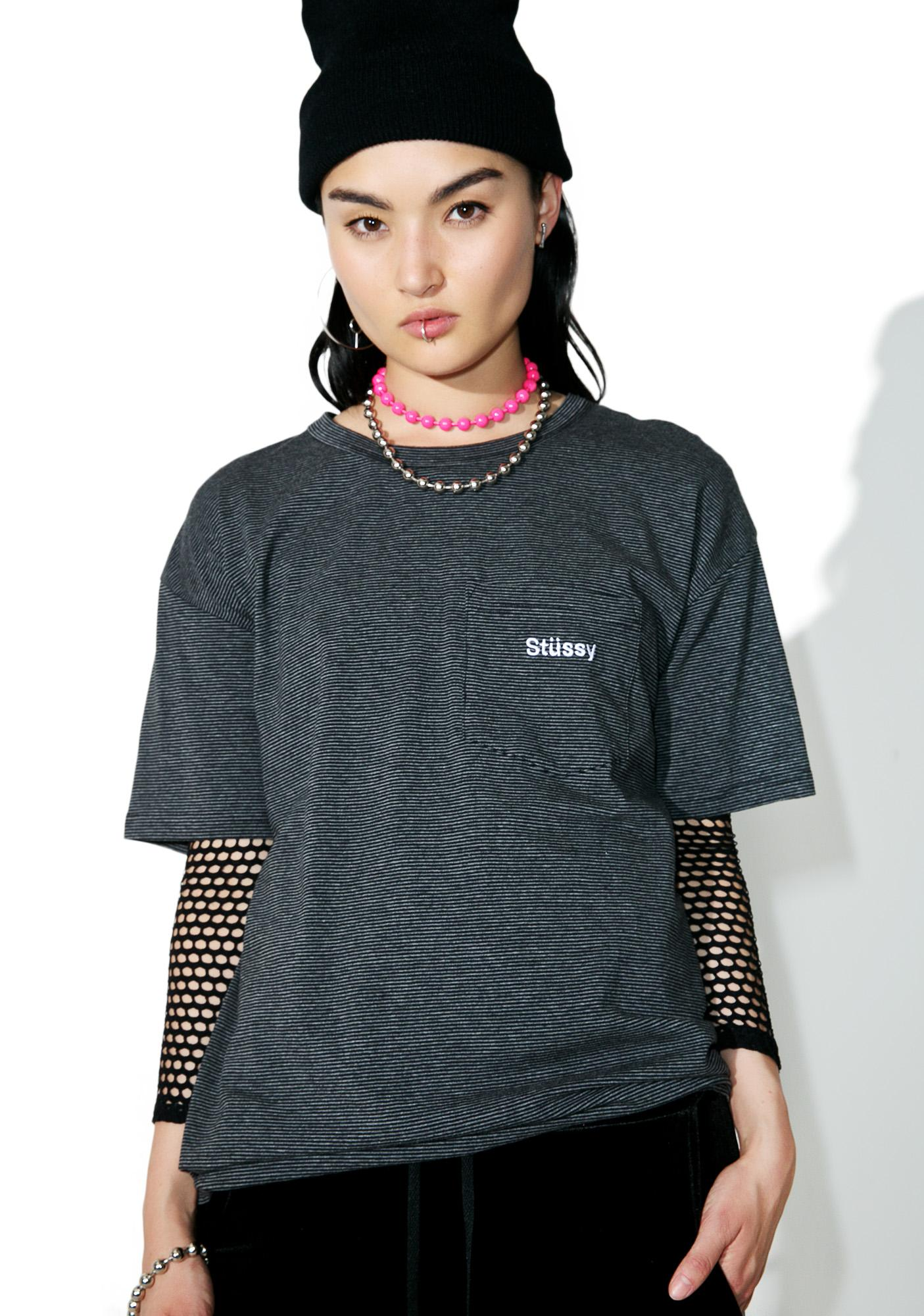 Stussy Sunset Striped Tee
