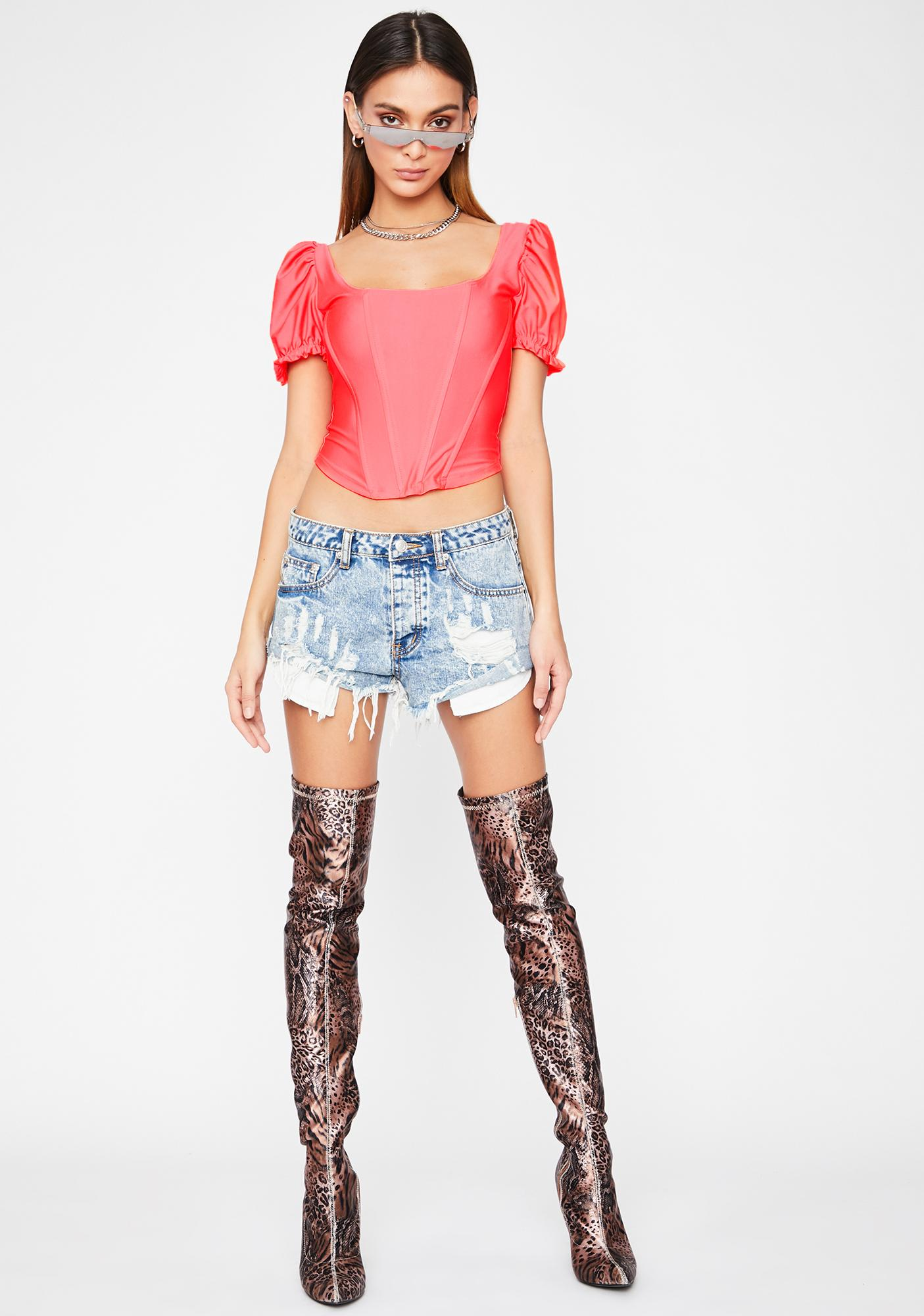 Juicy Not Your Toy Corset Blouse