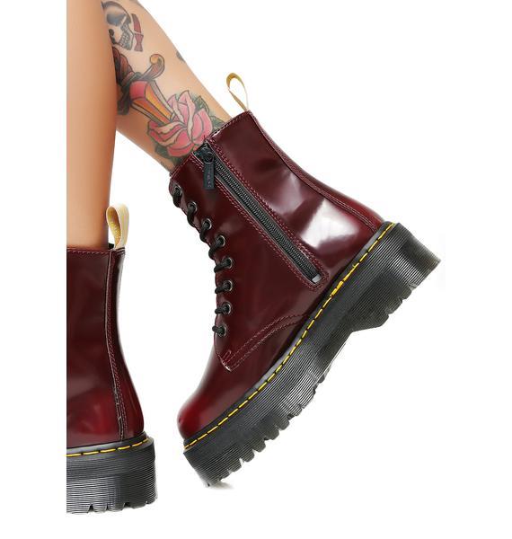 Dr. Martens Cherry Vegan Jadon II Boot