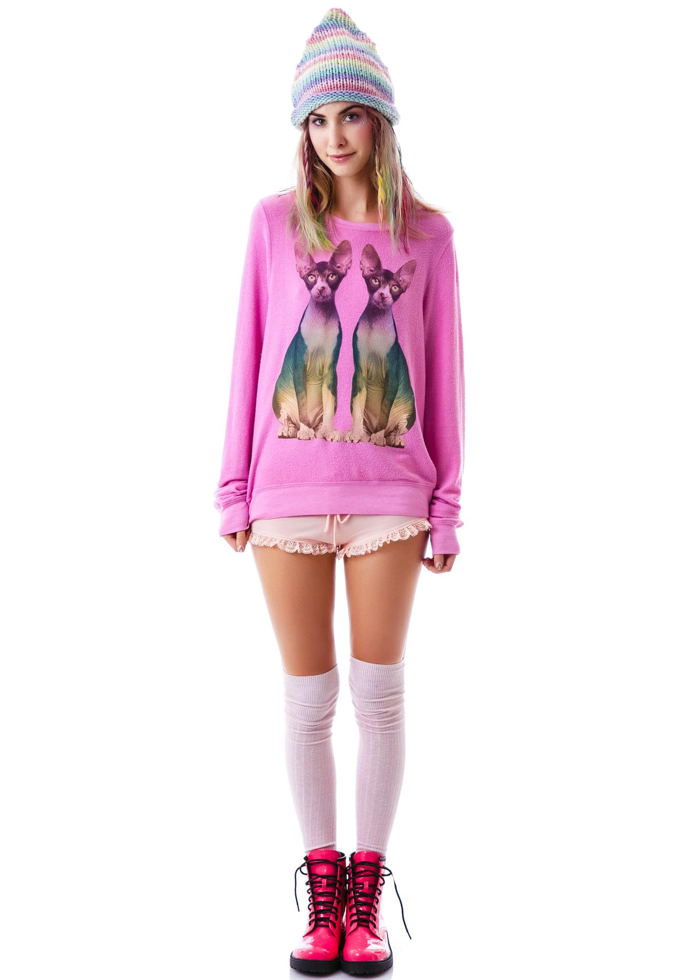 Wildfox Couture Double Trouble Baggy Beach Jumper
