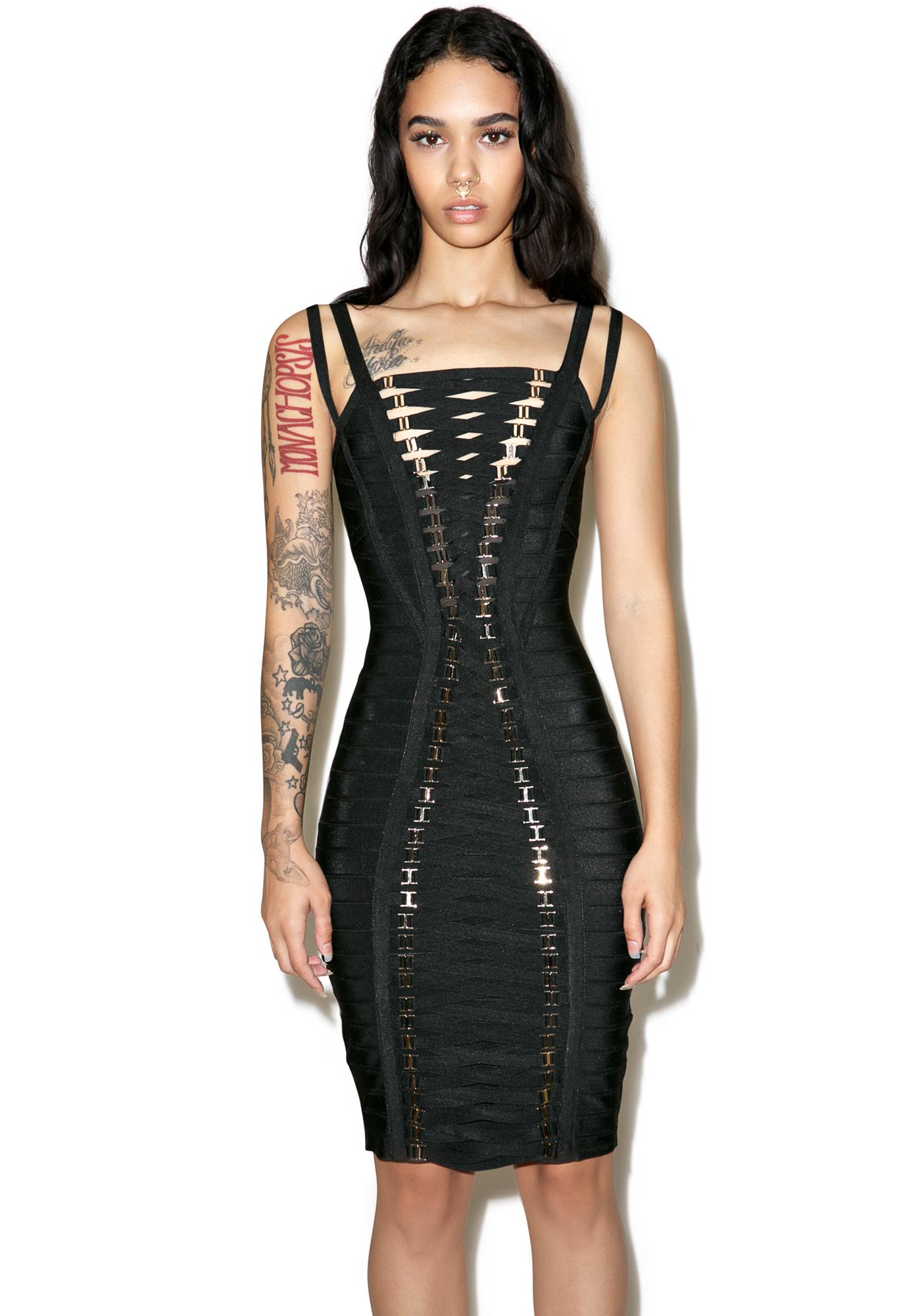 Thotful Lace Up Dress