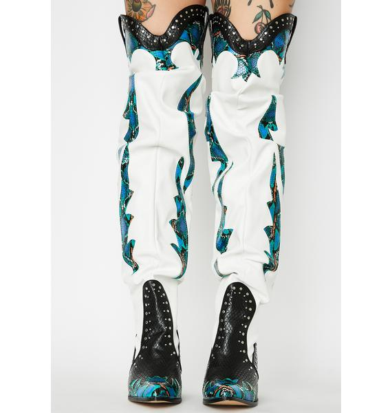 Teal Walkin' On A Dream Knee High Boots