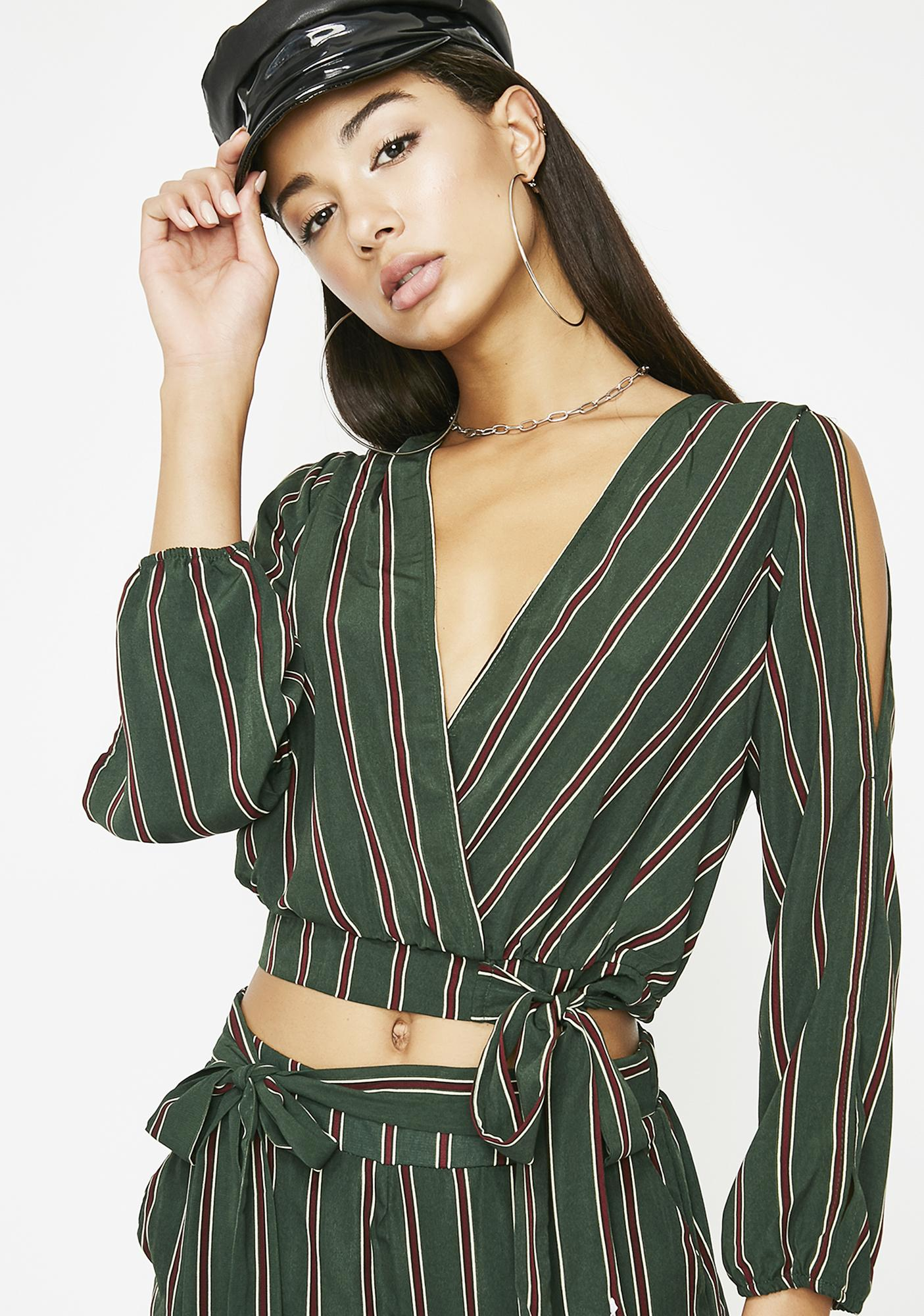 It's All Good Stripe Top by Edgemine
