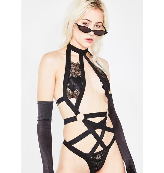 Oh So Haughty Harness Bodysuit