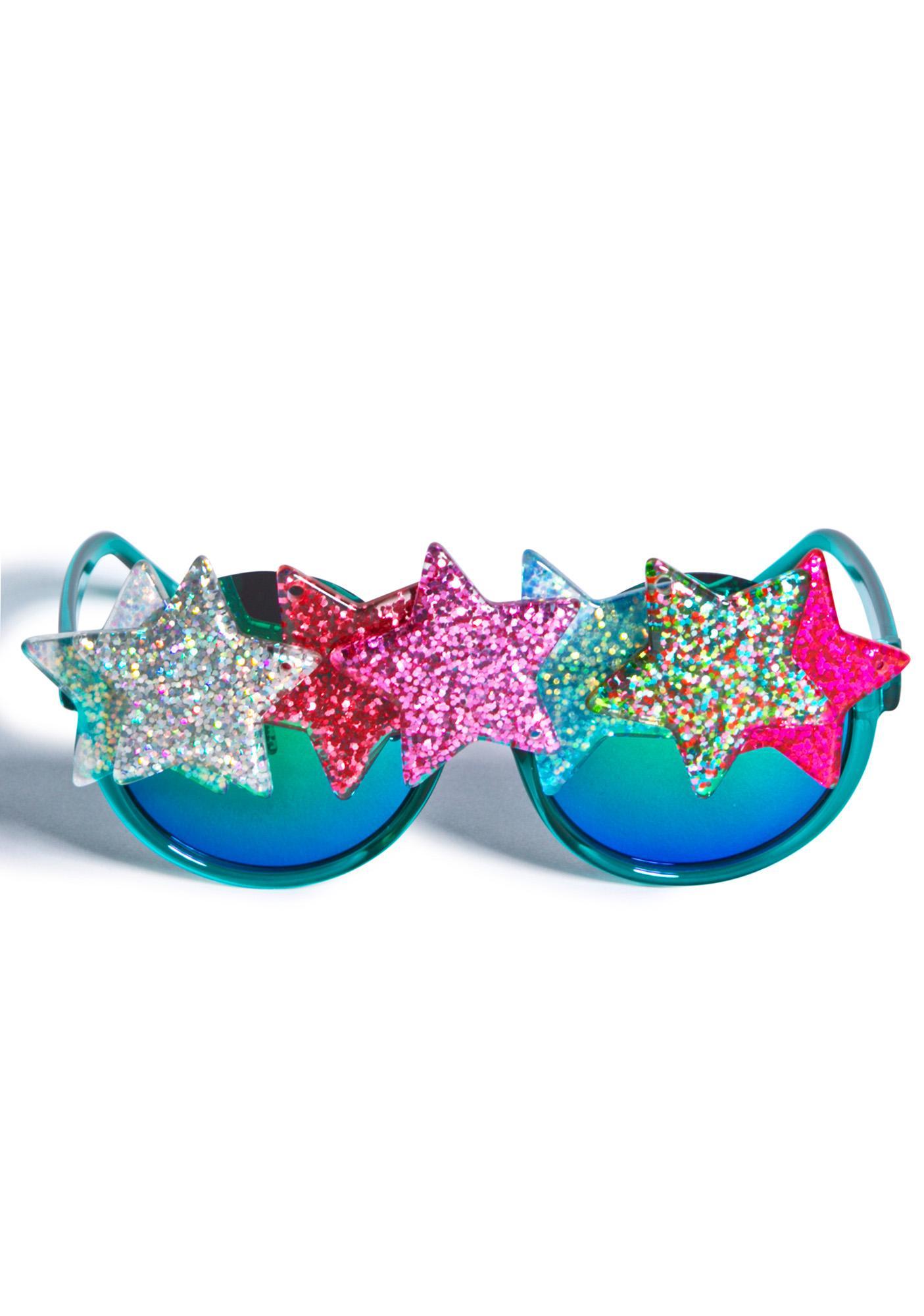 Gasoline Glamour Fantasia Shooting Star Acid Sunglasses