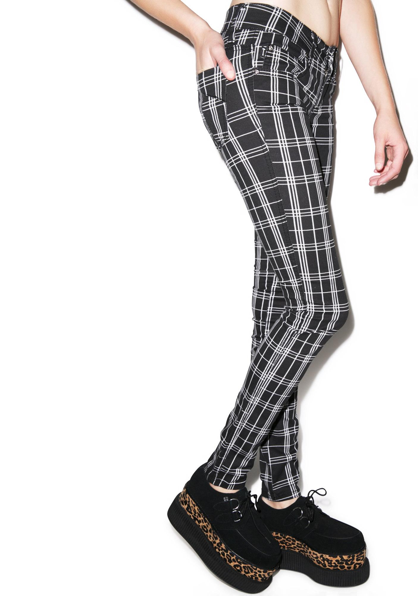 Tripp NYC Plaid T Jeans
