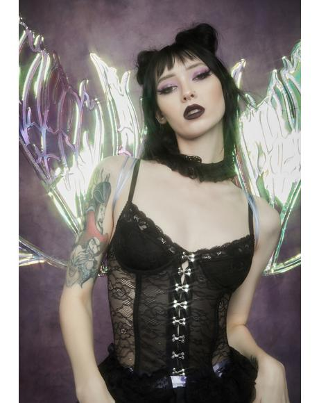 Before Dawn Lace Corset With Choker
