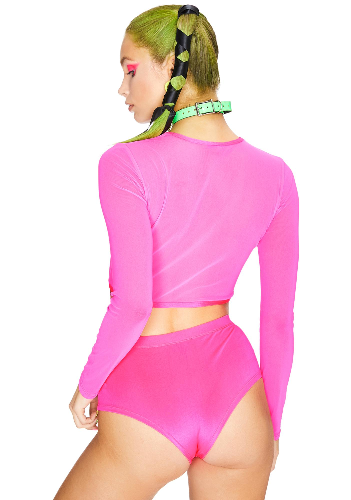 Club Exx Sweet Disco Lemonade Mesh Shrug