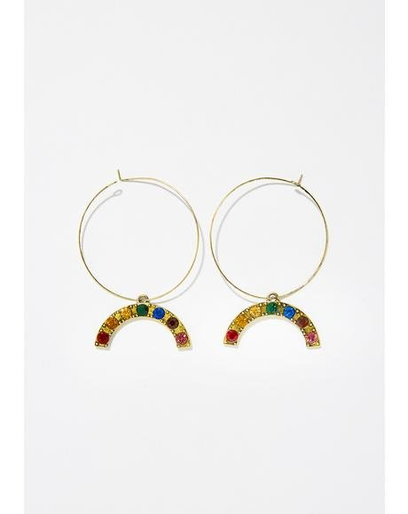 Show Me Rainbowz Hoop Earrings