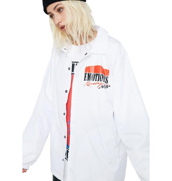 Petals and Peacocks Emotions Racing Coach Jacket