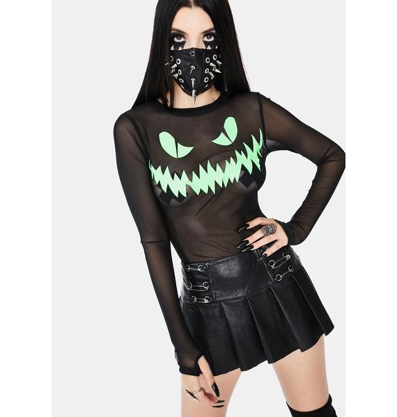 Dolls Kill Ghoul Games Mesh Top