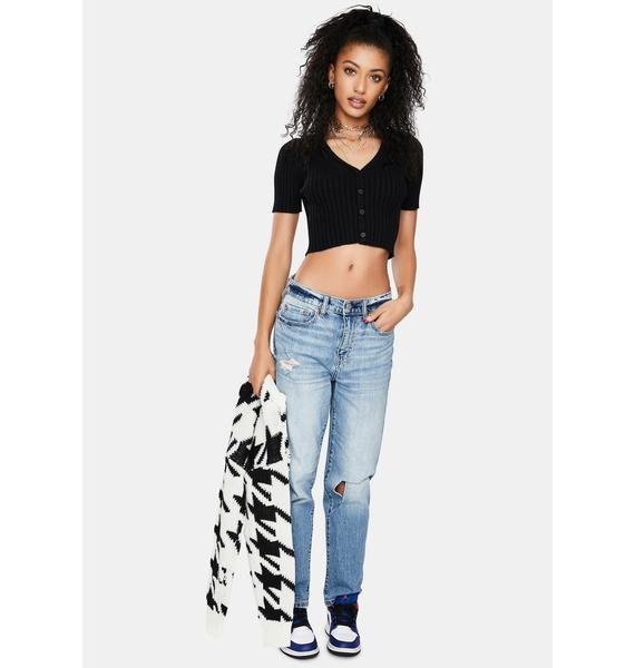 Ink That Could Be Me Cropped Cardigan