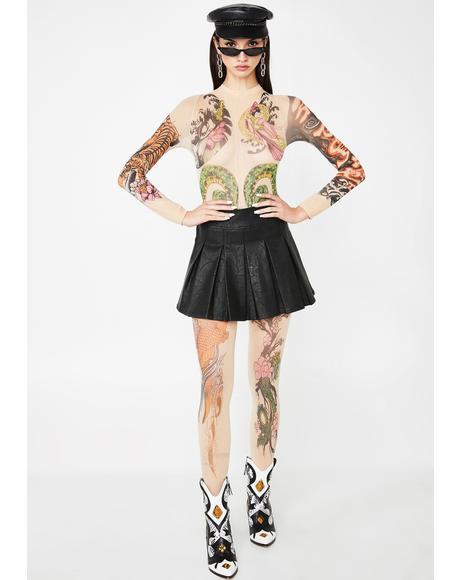 Ink Queen Tattoo Bodystocking