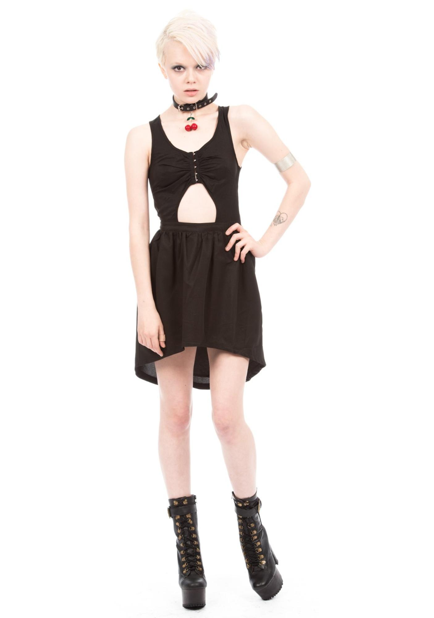HLZBLZ X Belle Of The Brawl Outsiders Peek-A-Boo Cut Out Dress