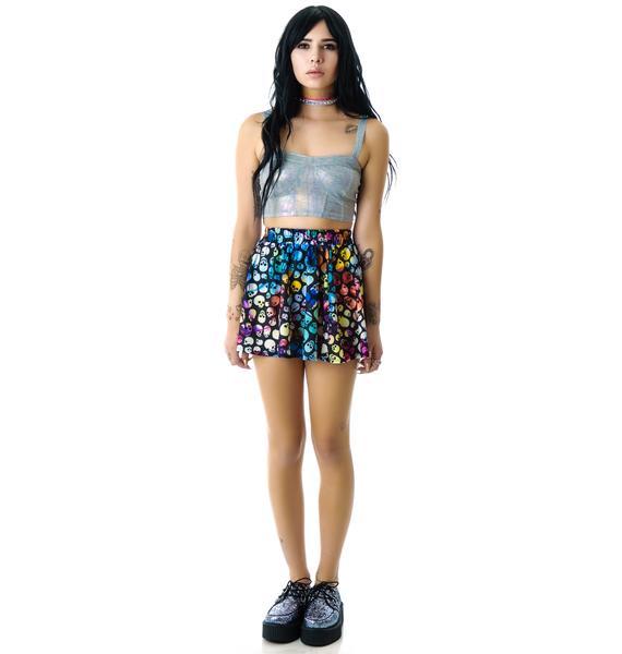 Zara Terez Colored Skulls Skater Skirt