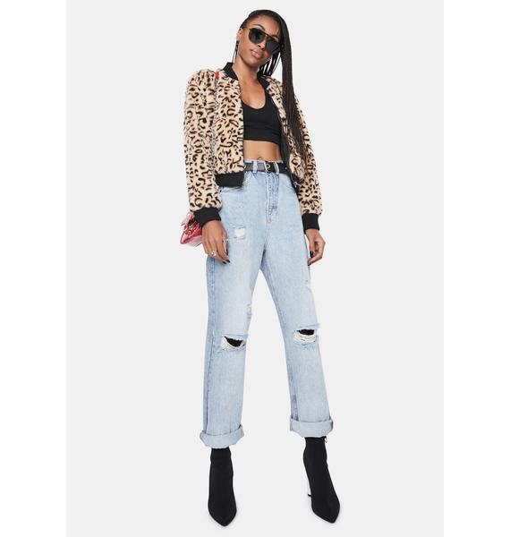 BB Dakota Meow Factor Faux Fur Jacket