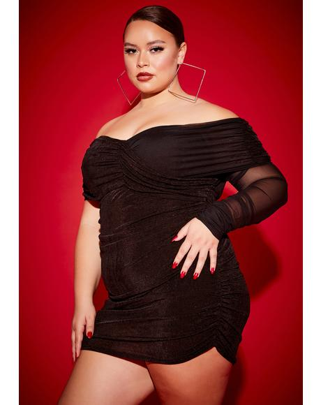 Mz Bad 'N Badder Off Shoulder Mini Dress