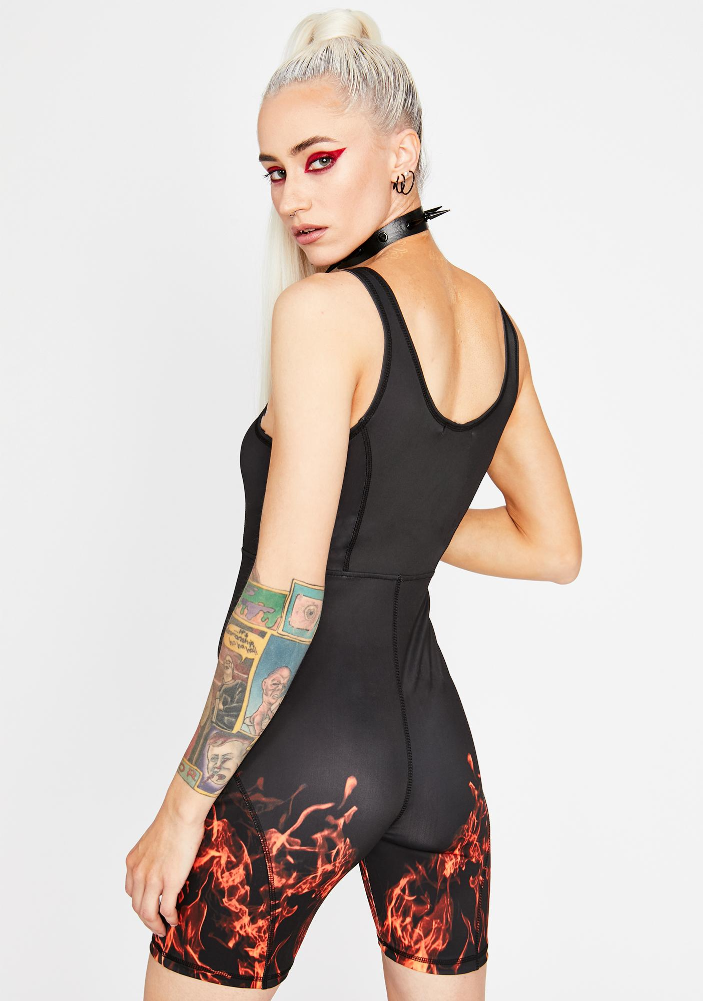 HOROSCOPEZ Blazing Glory Cut-Out Romper