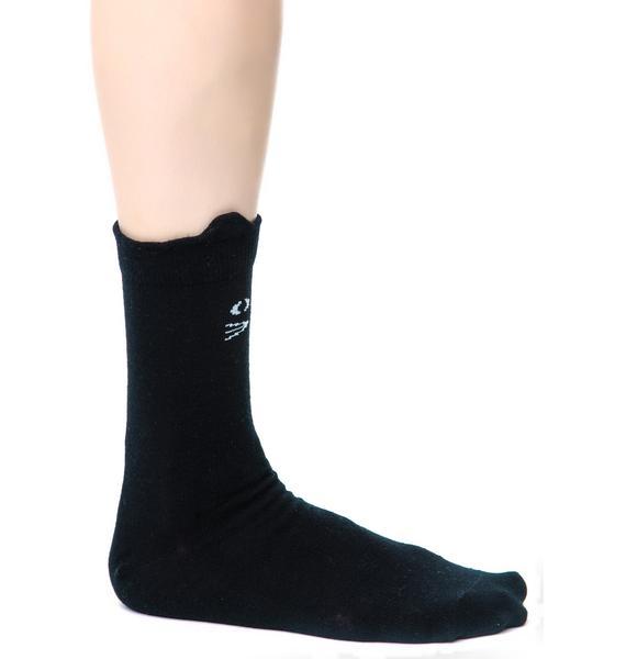Lazy Oaf Kitty Socks