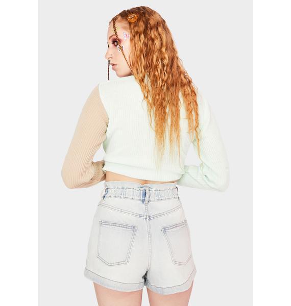Daze Smarty Pants Denim Shorts