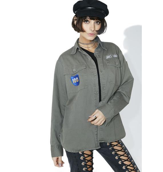 Jac Vanek I Hate Everyone Vintage Army Jacket