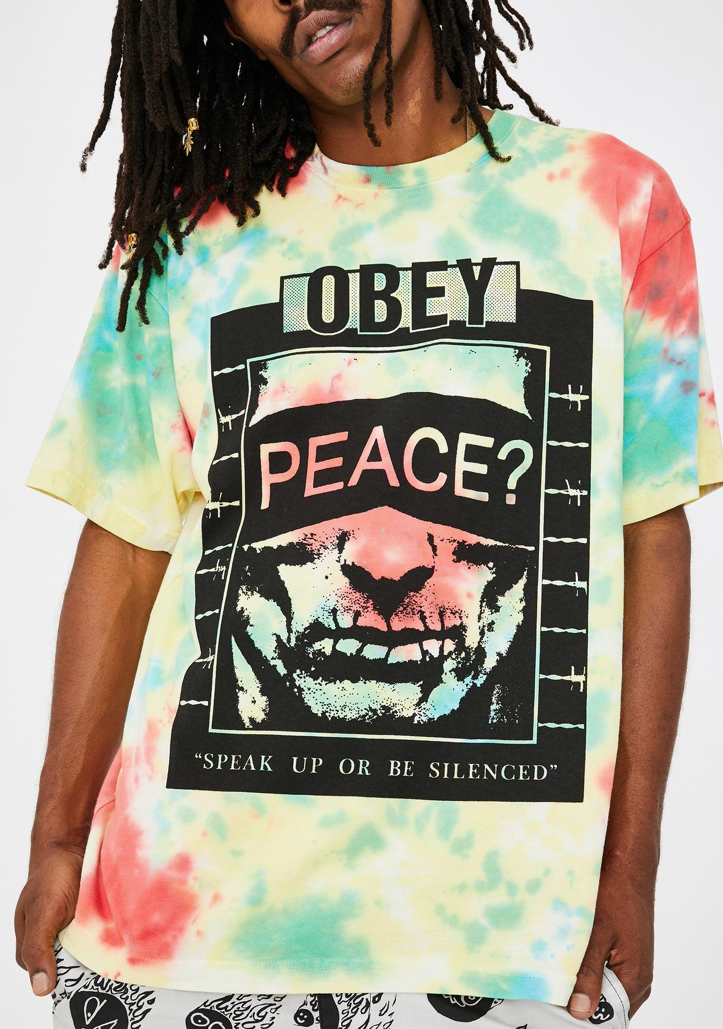 Obey Speak Up Graphic Tee