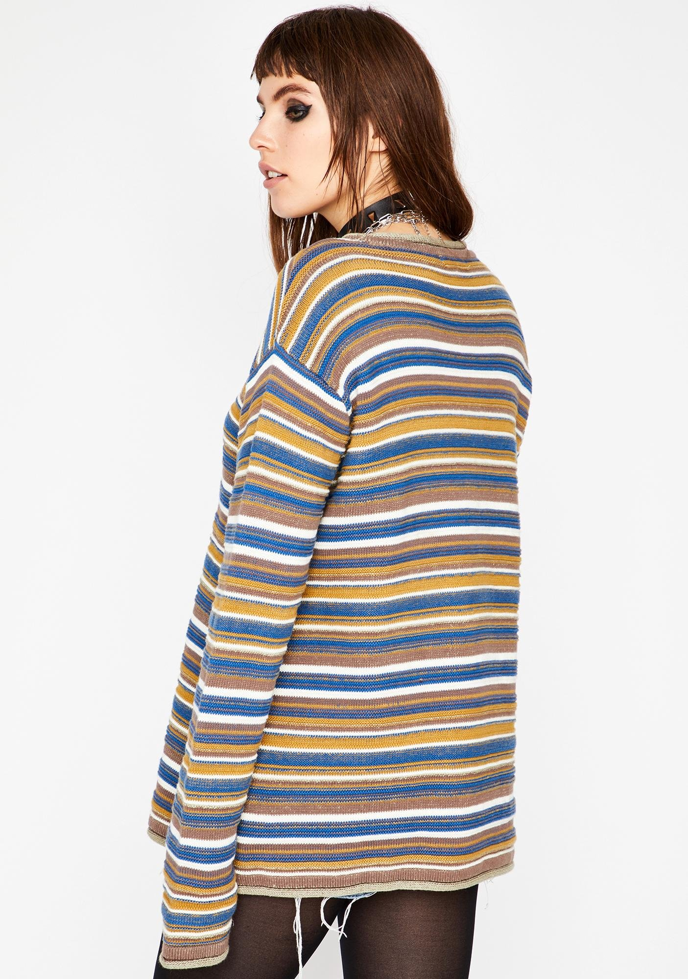 Current Mood What The Hell Striped Sweater