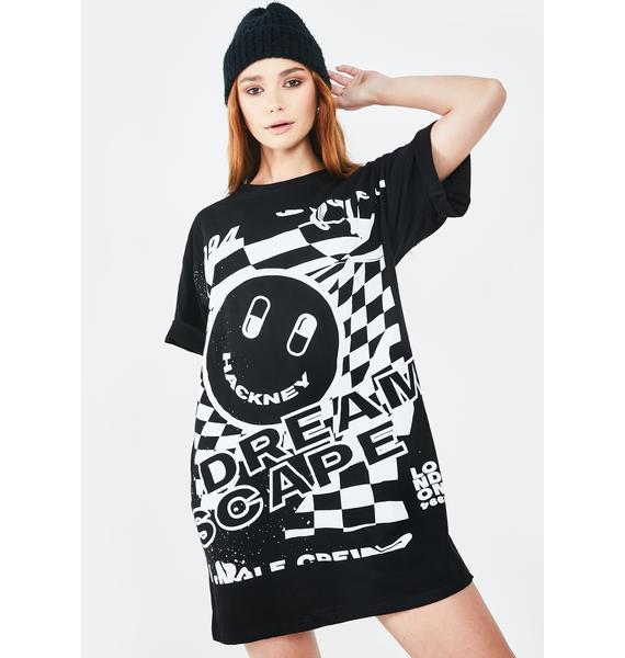 Motel Dreamscape Sunny Kiss Tee Dress
