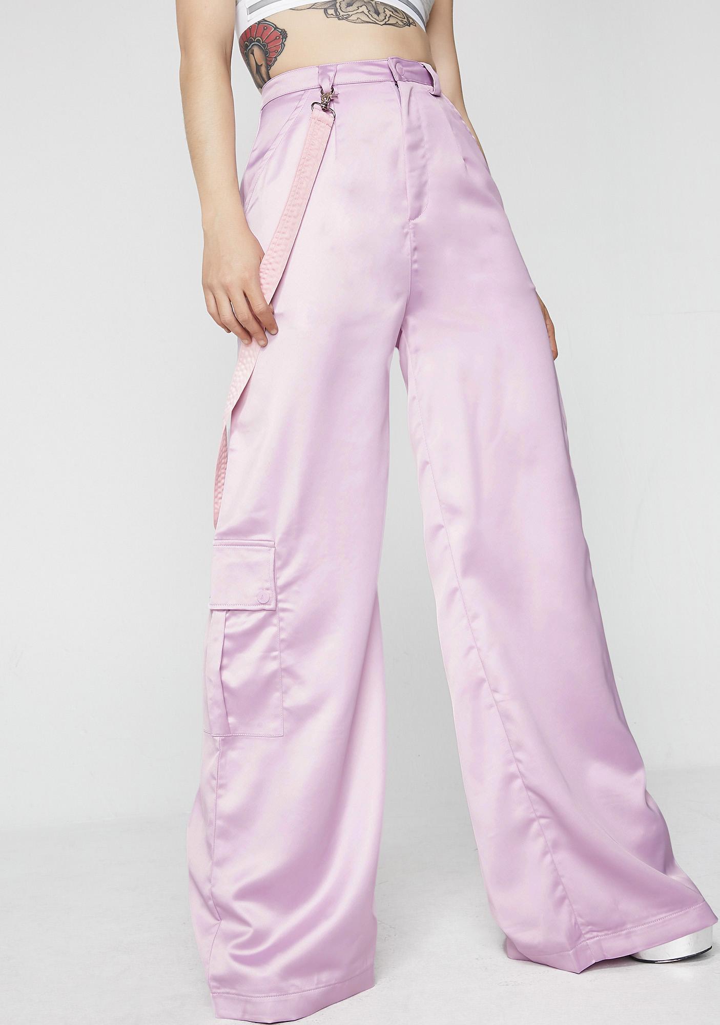 Lazy Oaf Satin Cargo Pants