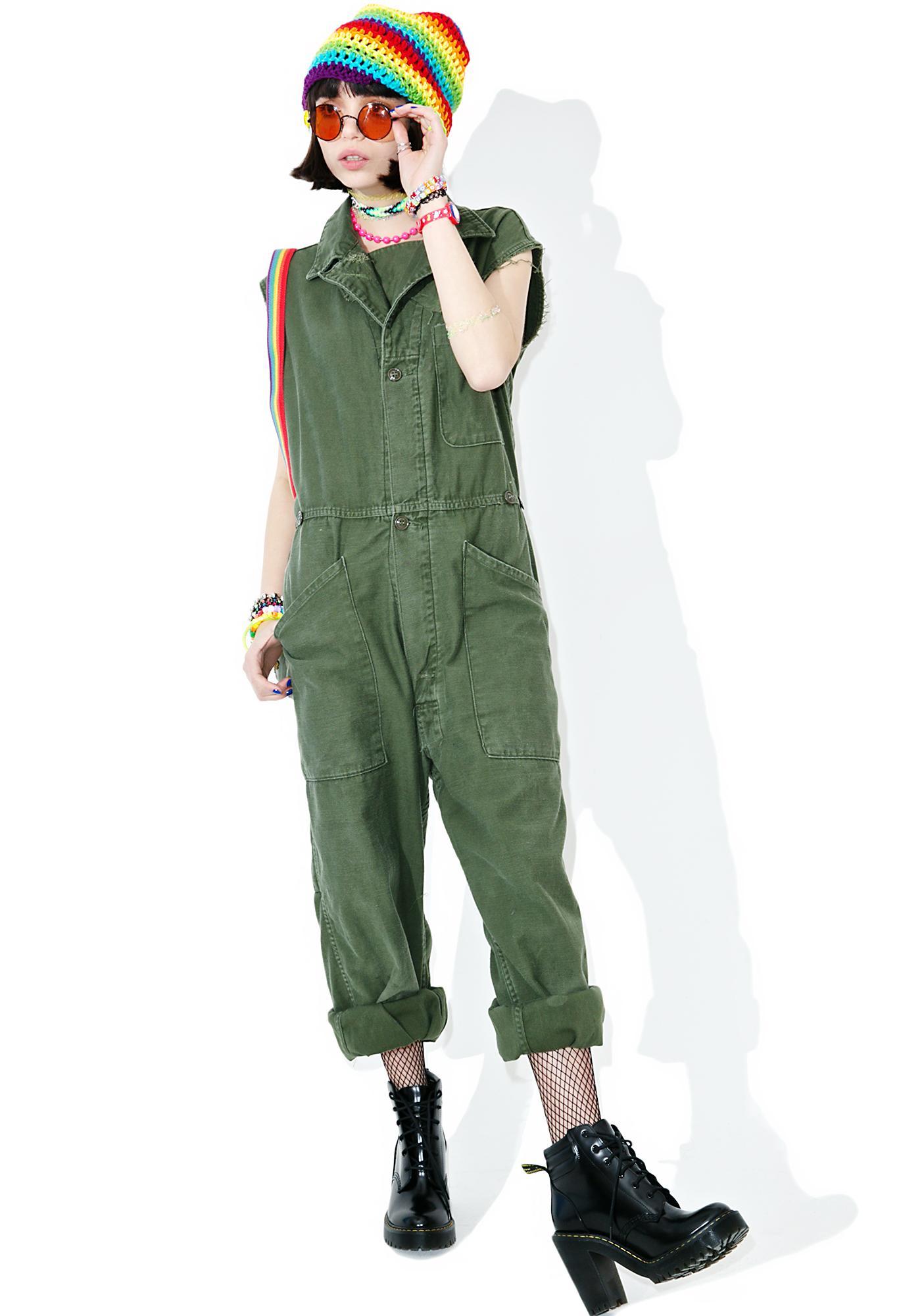 Vintage Army Surplus Sleeveless Flightsuit