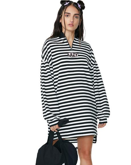 Zip Up Stripey Sweatshirt