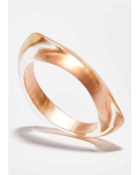 Golden Prism Bae Triangle Bangle